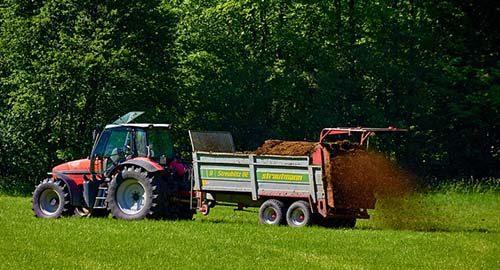 lawn fertilization truck